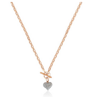 Pave Heartlock Necklace