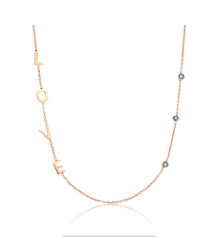 Love Necklace with 3 Solitaires