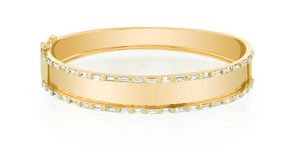 Essential Baguette Nameplate Bangle