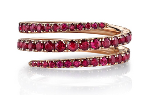Ruby Coil Ring - Millo Jewelry