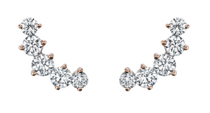 Arc Diamond Studs