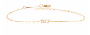 14kt Gold Itty Bitty BFF Bracelet - Millo Jewelry