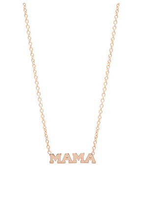 14kt Gold Itty Bitty MAMA Necklace