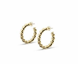 TWISTED GOLD-PLATED LOOPS - Millo Jewelry