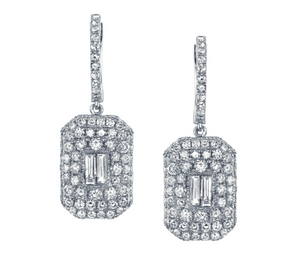 ESSENTIAL PAVE BAGUETTE DROP EARRINGS