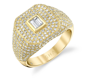 PAVE BAGUETTE CHAMPION RING