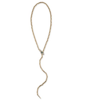 Emerald Pave Diamond Head Snake Necklace - Millo Jewelry