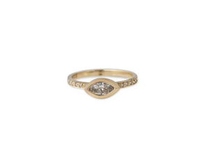PAVE MARQUISE DIAMOND RING