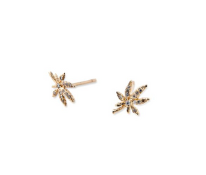 OG SWEET LEAF STUD - Millo Jewelry