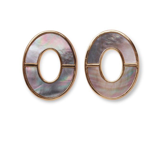 Symmetry Earring in Iridescent