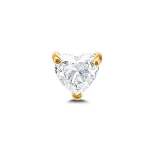 Floating Diamond Heart Stud