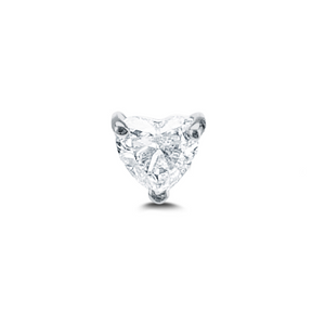 Floating Diamond Heart Stud - Millo Jewelry