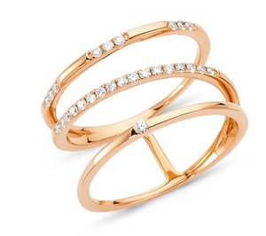 3 Row Orbit Ring