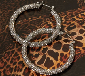 Pave Hoop - Millo Jewelry