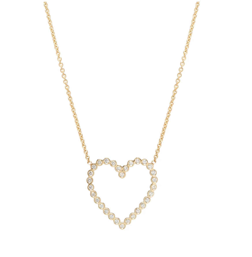 14K Gold Open Heart Necklace - Millo Jewelry