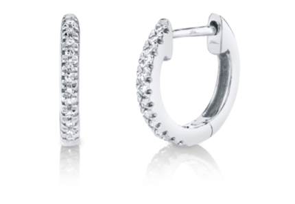 Single Diamond Huggie 8mm - Millo Jewelry