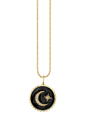 Celestial Medallion with Scalloped Edge Charm - Millo Jewelry