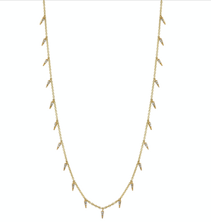 Pave Fringe Drop Necklace - Millo Jewelry