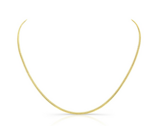 14K Yellow Gold Mini Miami Cuban Necklace - Millo Jewelry