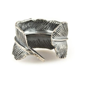 Silver Casted Feather Ring