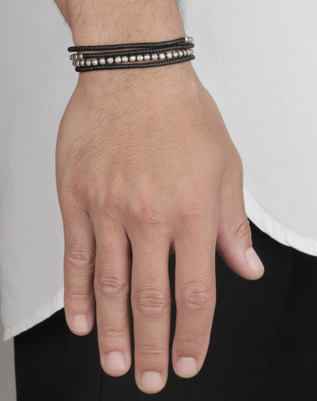THE BLACK LUNGO 4 WRAP BRACELET