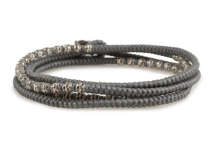 THE GRAY LUNGO 4 WRAP BRACELET