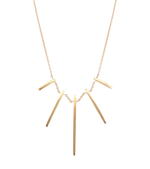 Beat Necklace Plain Gold- Rose Gold - Millo Jewelry