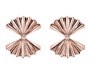 Double Fan Gold Earrings - Millo Jewelry