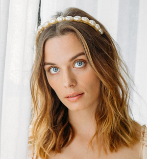Kingsley Headband Gold Pearl - Millo Jewelry