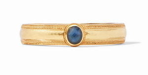 Coin Hinge Bangle-Stone