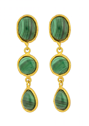 Dangle Cascade 3 Stone Earring