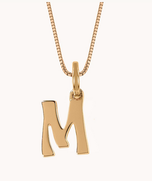 Letter Charm Necklace - Millo Jewelry