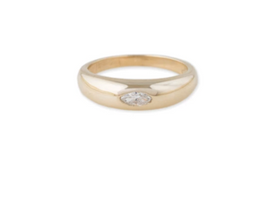 MARQUISE DIAMOND CENTER DOME RING