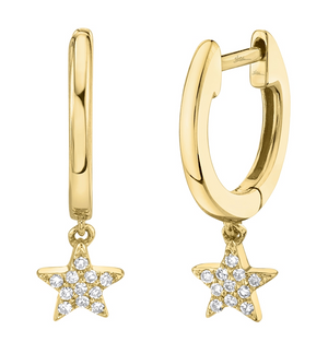 Star Diamond Huggie Earring - Millo Jewelry