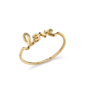 Small Gold Love Ring - Millo Jewelry