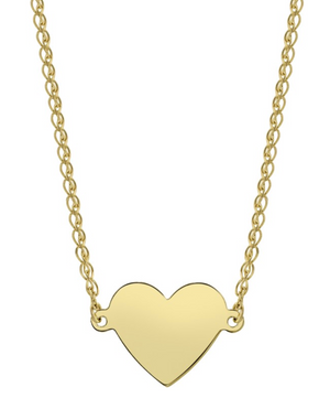 14K Floating Heart Necklace