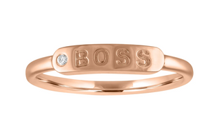 "The Twiggy - Skinny Signet ""BOSS"" (Diamond)"