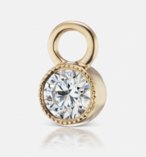 3mm Scalloped Diamond Charm - Millo Jewelry