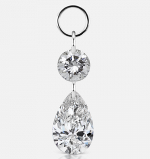Grand Floating Double Diamond Charm - Millo Jewelry