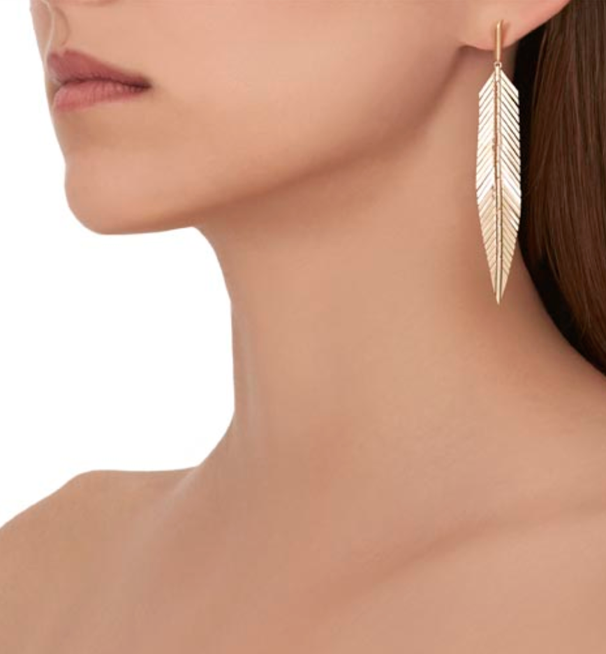 Feather Earrings, Medium