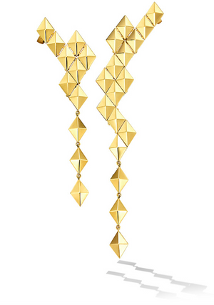 Python Asymmetrical Drop Earrings