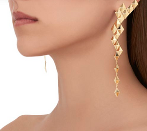 Python Asymmetrical Drop Earrings - Millo Jewelry