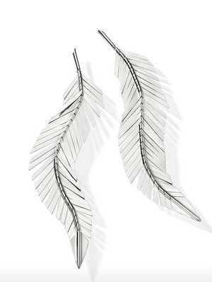 Feather Earrings, Large - Millo Jewelry