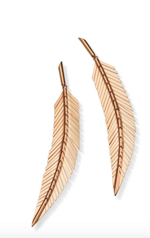 Feather Earrings, Medium - Millo Jewelry