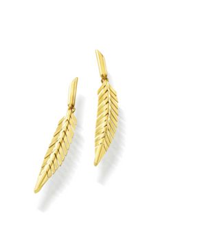 Feather Earrings, Small - Millo Jewelry