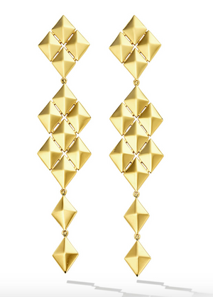 Python Symmetrical Drop Earrings - Millo Jewelry