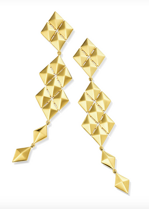 Python Symmetrical Drop Earrings