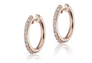 Pave Espionne Hoop (13mm) - Millo Jewelry