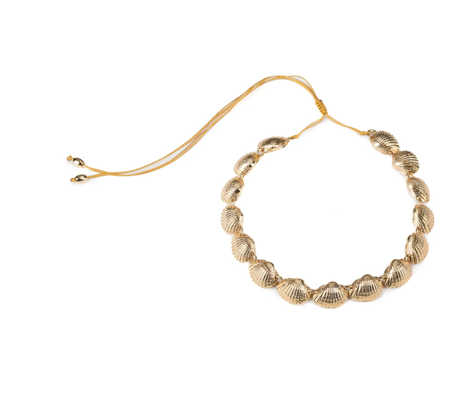 BEACH SHELL NECKLACE IN GOLD - Millo Jewelry