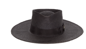 Canon Black Panama Straw Hat